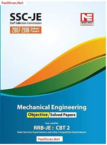 SSC-JE Mechanical Engineering Solved Papers eBook PDF Download