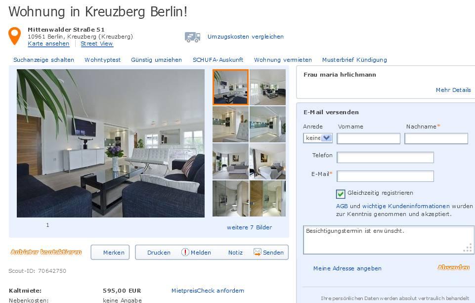 Wohnung Kreuzberg  Zimmer