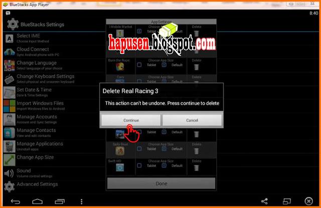 Cara menghapus aplikasi game di bluestacks - Capuraca