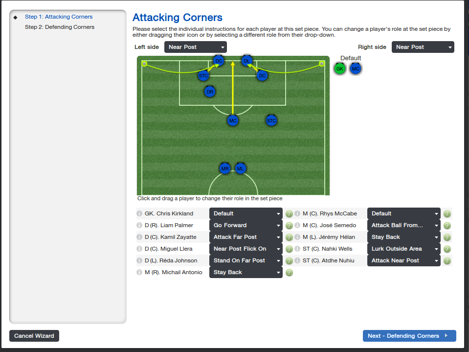 Fifty Words On: How To Score From Corners in Football Manager 2014