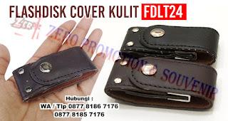 Flashdisk Kulit Police FDLT24, USB Flashdisk Kulit Klip, USB FLASH DISK LEATHER CLIP, USB Flashdisk Kulit Bentuk Clip, Usb Kulit Vintage Kancing, USB Leather Clip