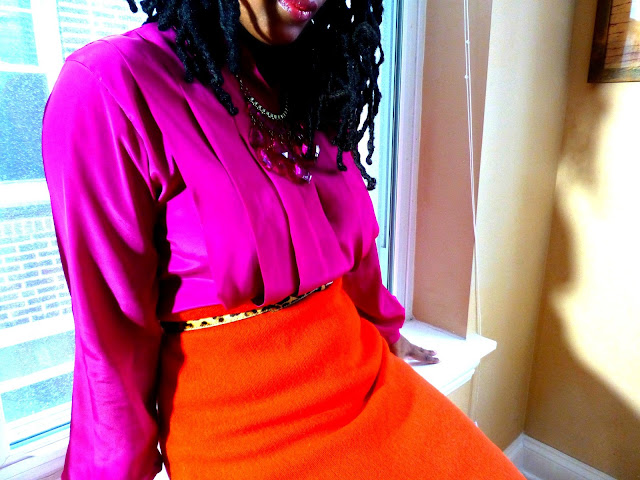 Pink and orange outfit