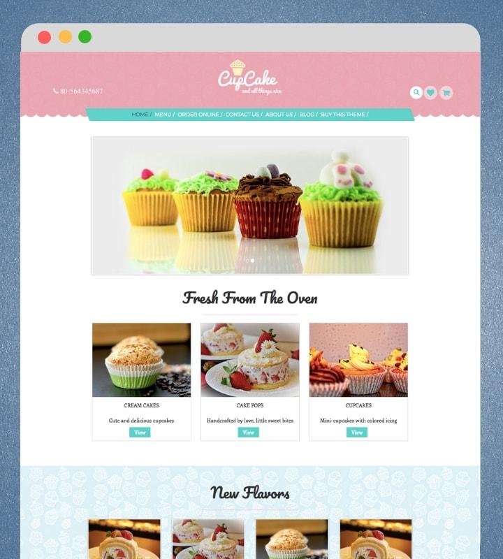 CupCake (Food / Bakery WordPress Theme for Blogs)