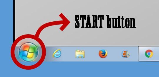 tombol button START windows 7