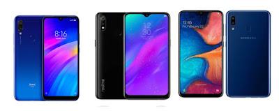 Redmi 7 vs Realme 3 vs Samsung Galaxy A20