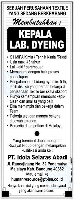 Lowongan Kerja di Majalaya Bandung