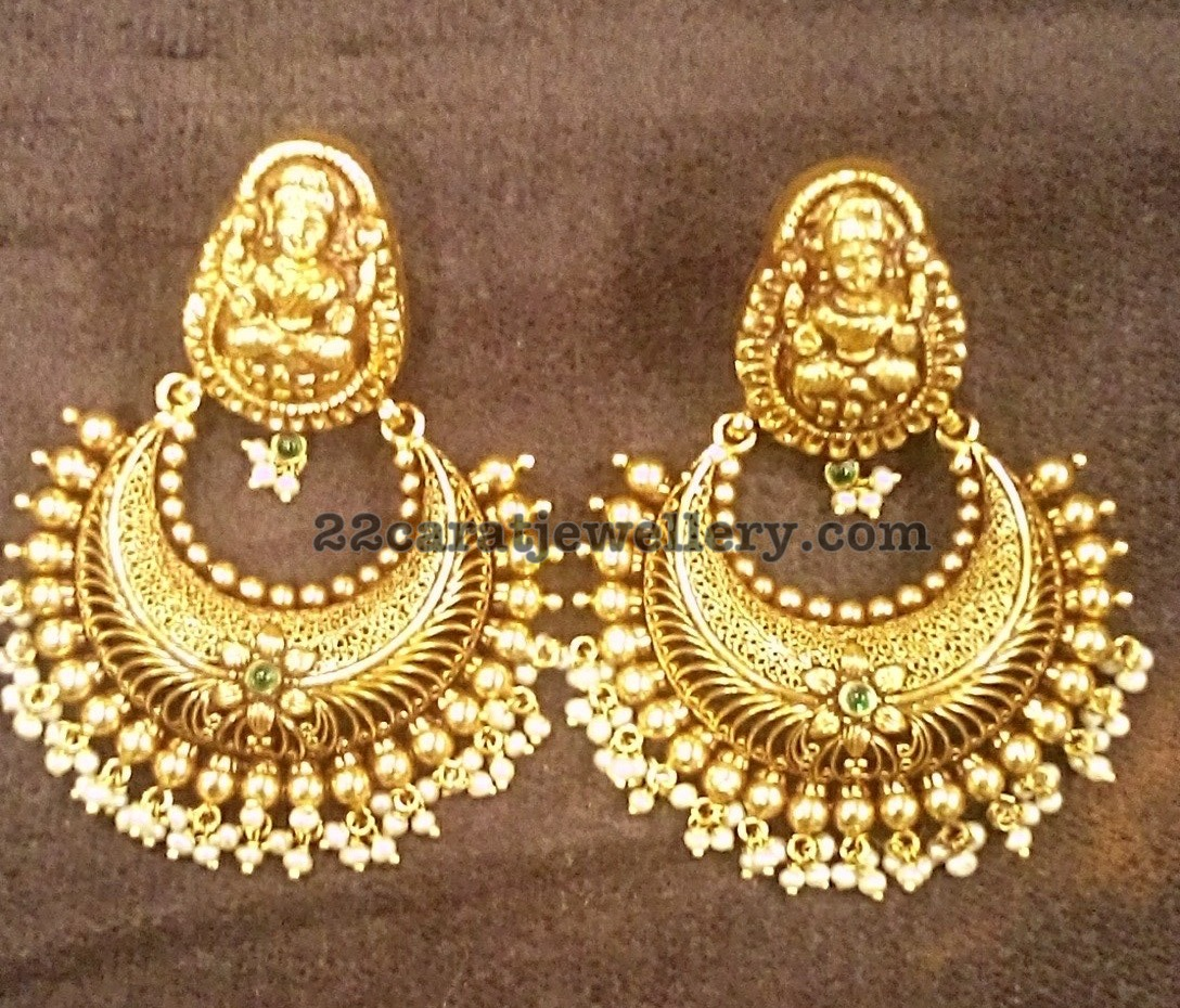 Small Indian Home Design: Heavy Silver Metal Earrings