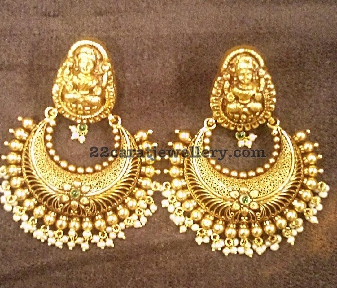 Heavy Silver Metal Earrings - Jewellery Designs