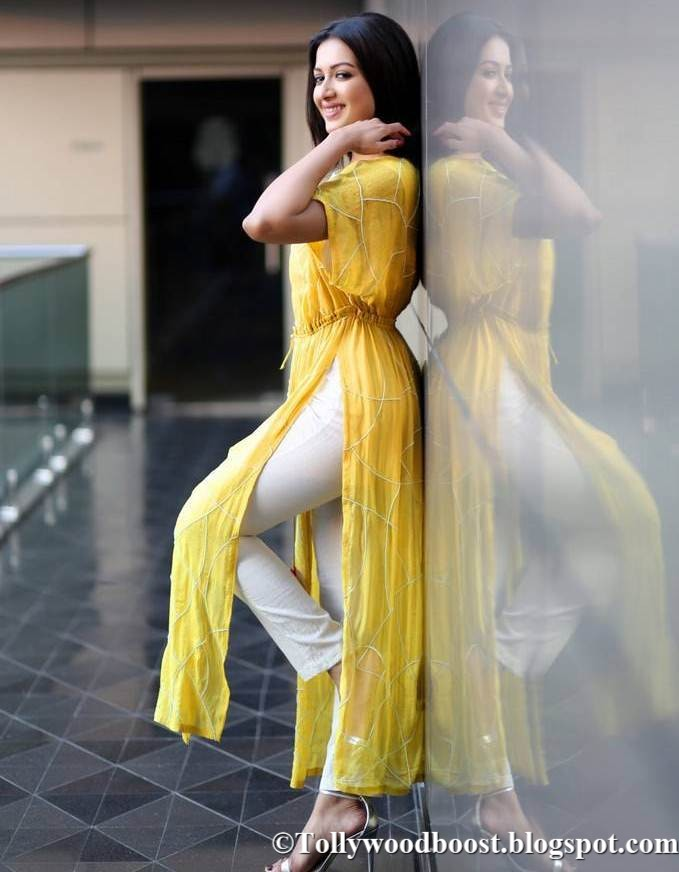 Telugu Girl Catherine Tresa Photo Shoot In White Dress