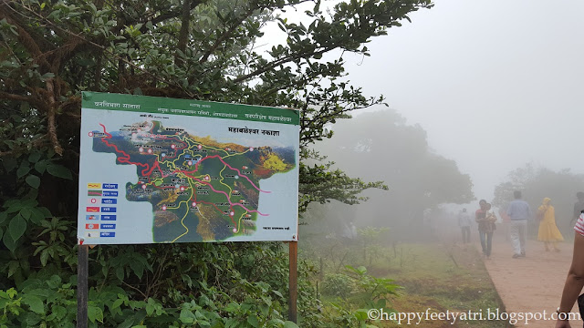 Mahabaleshwar tourist map