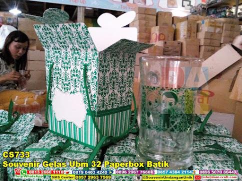 jual Souvenir Gelas Ubm 32 Paperbox Batik