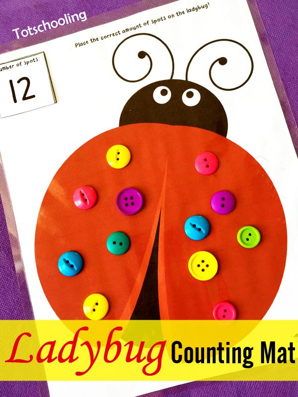 Free Ladybug Counting Mat
