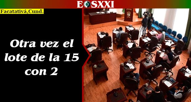 Concejo de Facatativá a extras para estudiar ampliación de plazo para vender lote de la 15