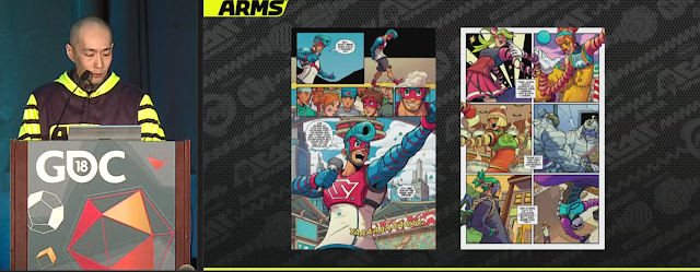 ARMS comic in development GDC Games Developer Conference Mr. Yabuki san