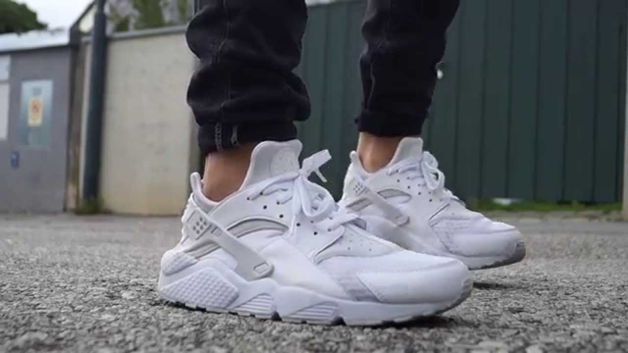 93cfd47c7f3f The NIKE AIR HUARACHE TRIPLE WHITE editions are finished in the. White    White   Pure Platinum colourway.