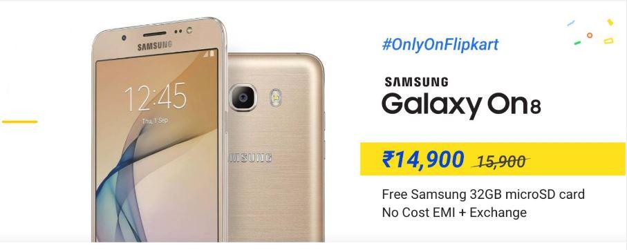online store 0d098 7fafd Samsung Galaxy On8 at Rs 14,900 on Flipkart - Tech Updates