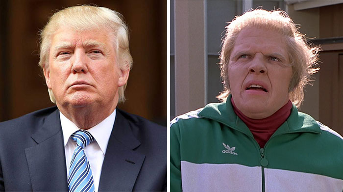Biff de Volver al Futuro y Donald Trump parecen familiares muy cercanos. e9d25aaa7a71