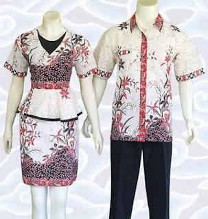 Baju batik couple untuk atasan pria wanita