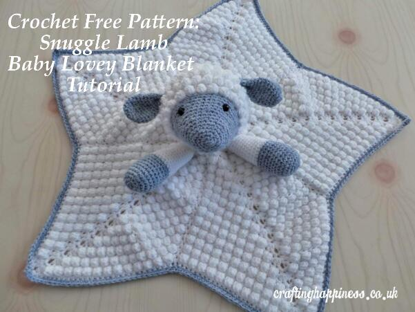 Crochet Pattern Snuggle Lamb Baby Lovey Security Blanket Crafting