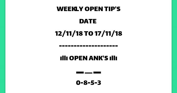 Matka Mobi Kalyan Bazar weekly Date fix open ANK 100% free