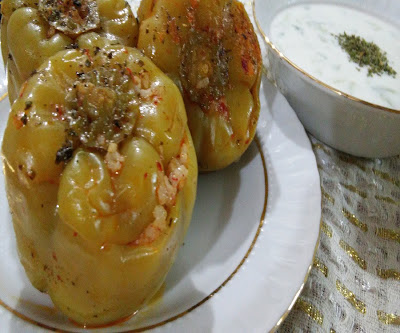 zeytinyağlı biber dolması tarifi