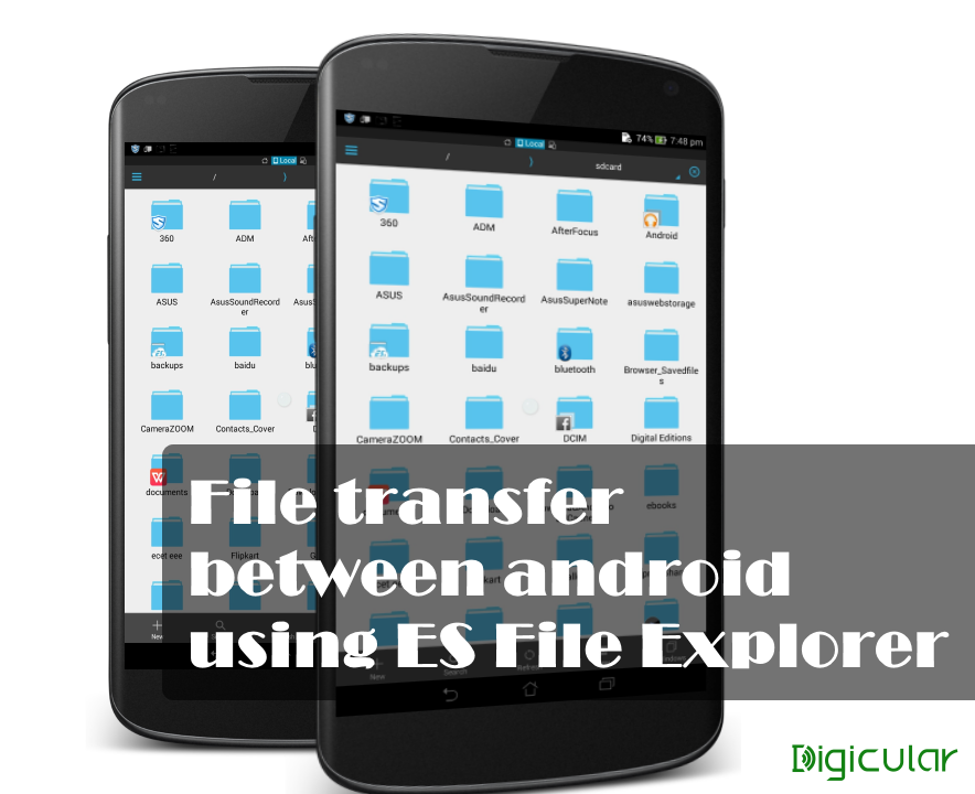 Android to android quick file transfer with es file explorer