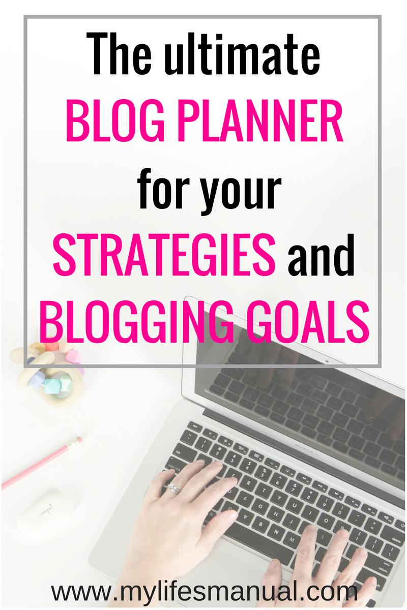 Blog planner. Printable blog planner