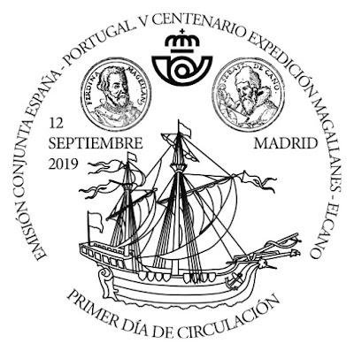 V Centenario de la Expedición Magallanes - Elcano - Matasellos Primer día - 2019