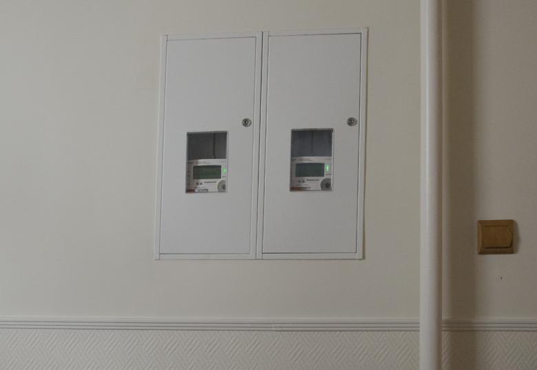 klatka schodowa - skrzynki elektryczne