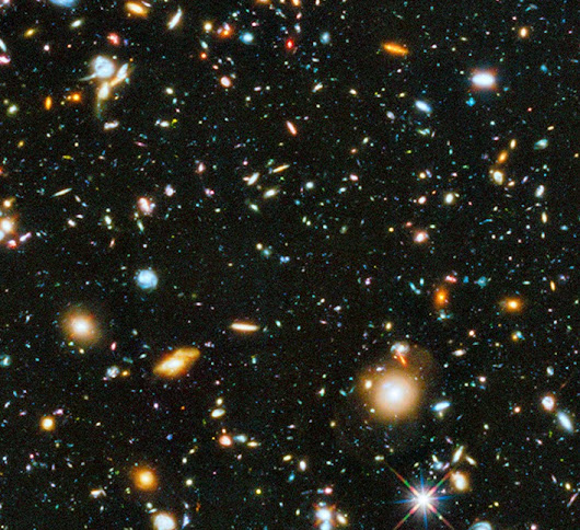 My God! It's full of galaxies!