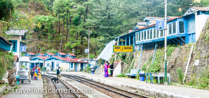 Few weeks back I was at Barog Railway station around Solan region of Himachal Pradesh, and got to know that this beautiful railway station has some guest rooms which can be booked through IRCTC website. It was amazing to explore that beautiful Himalayan railway stations have guest-houses to spend quality time around natural beauty. Railway station at Barog is one of the most beautiful station on Shimla-Kalka railway line. This region is one of the most beautiful hilly station around Solan and that's one of the main reason that people come to this place for picnic or a ride in toy train from Solan/Shimla. There are few rooms in this railway station which are facing a water stream. Are you wondering that how a stay on railway station can be interesting? Let me clear few basic doubts - only 3 trains cross this railway station in a day and everyone likes to see these toy trains crossing through Barog station :). Can you visualize a slow moving train through hills of Himachal Pradesh? But that's not enough. Even if there is no noise, why someone should spend 1/2 night(s) here? Definitely this place is for explorers and folks who love being around nature. It's very peaceful place surrounded by pine forests and high hills.