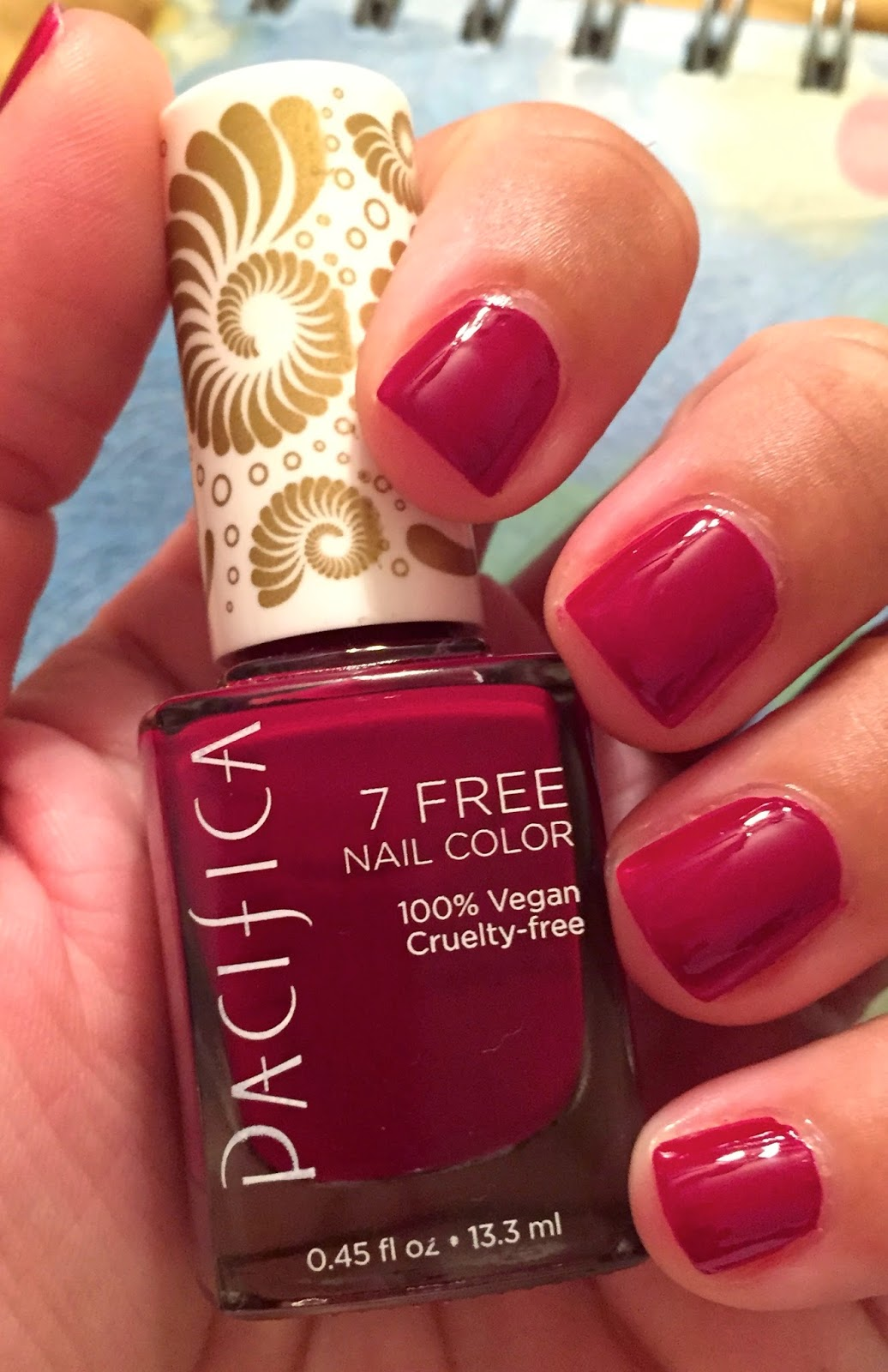 My Beauty Full Blog: Pacifica 7 Free Nail Color NOTD
