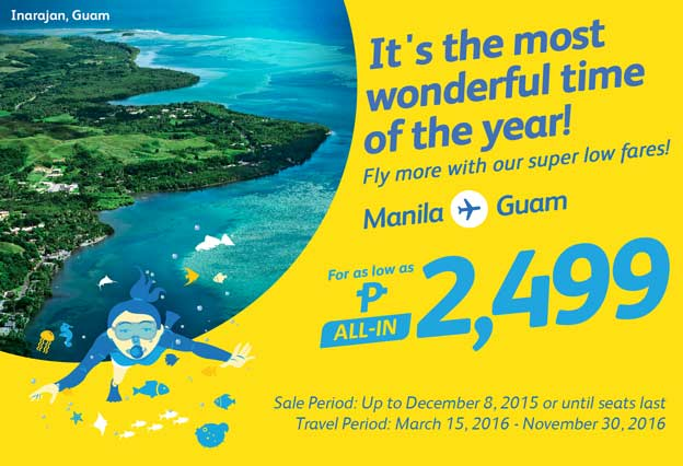 International Flight Cebu Pacific Manila to Guam Promo 2016