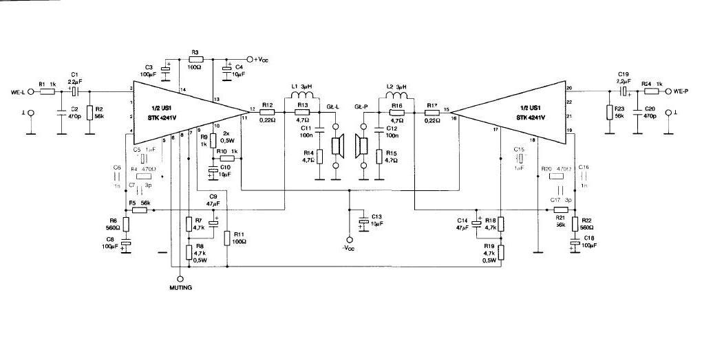 Super Home Stereo Amplifier Circuit Diagram Electronic