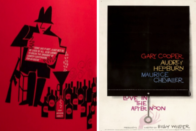 Some like it Hot and Love in the Afternoon Saul Bass