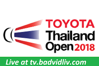 Thailand Open 2018 live streaming
