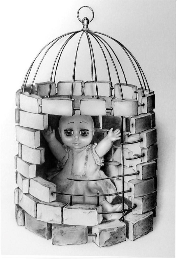 Метаморфоз взросления. Куколка(бумага, карандаш)