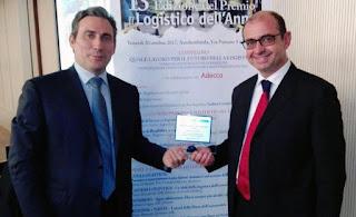 """Il premio """"Logistico dell'anno 2017"""" alla barese Apulia Logistic"""