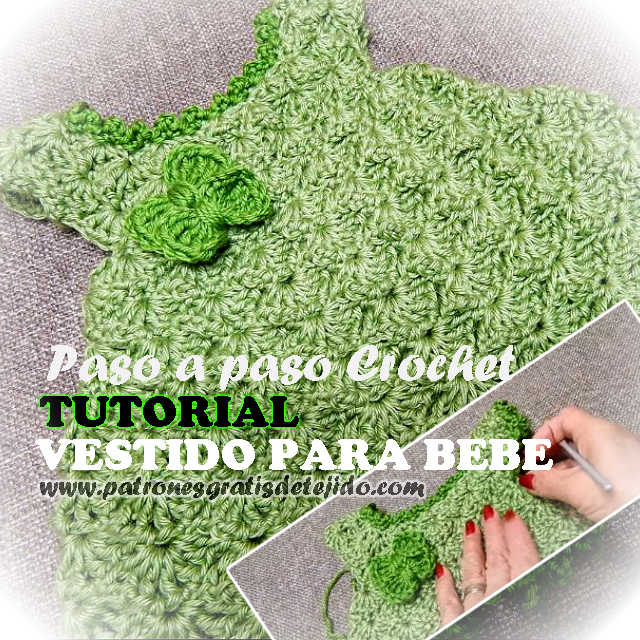 video tutorial vestido bebe al crochet
