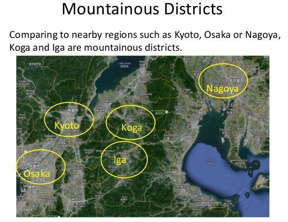 map of koga and iga