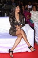 Pooja Hegde looks glamarous in deep neck sleevless short tight golden gown at Duvvada Jagannadham thank you meet function 104.JPG