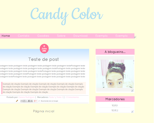 Download: Template Free Candy Color