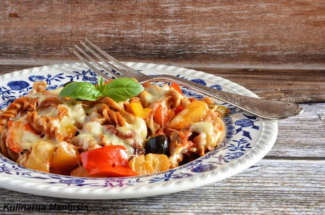 Zapiekanka makaronowa z warzywami - intergalaktyczne gotowanie