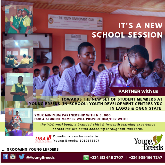 It's a new school session, Partner with young breeds | @YoungBreeds