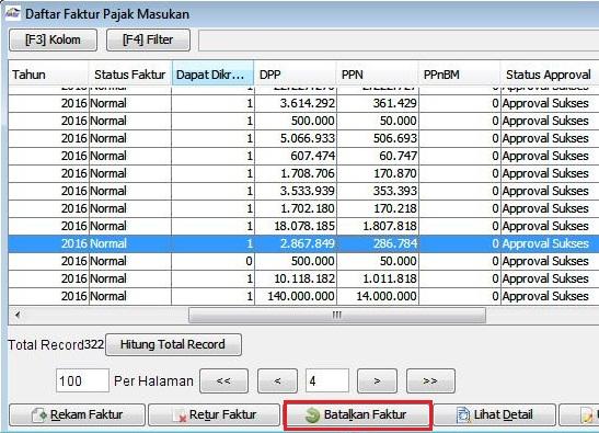 Cara Membatalkan Faktur Pajak Masukan Di Aplikasi E Faktur Efaktur