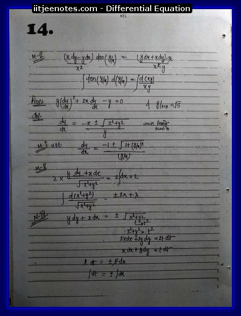 differential equation notes1
