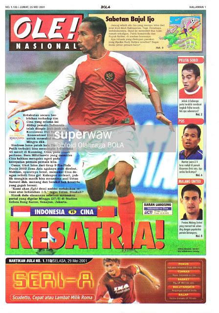 OLE! NASIONAL: INDONESIA VS CINA KESATRIA!