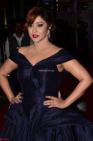 Payal Ghosh aka Harika in Dark Blue Deep Neck Sleeveless Gown at 64th Jio Filmfare Awards South 2017 ~  Exclusive 002.JPG