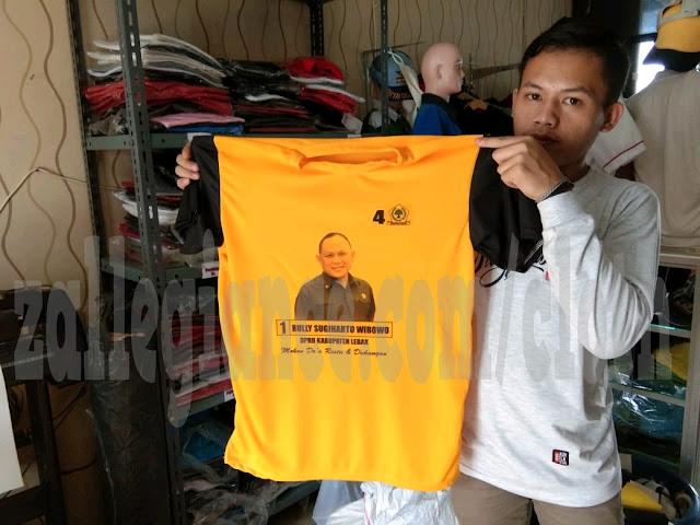Jasa Sablon Kaos Partai Online Paling Murah di Cikupa Tangerang Banten