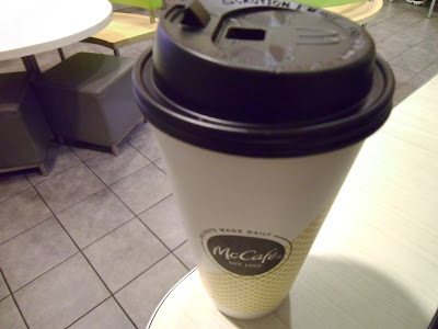 McDonald's Large Americano coffee cup